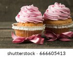 closeup of cupcakes with... | Shutterstock . vector #666605413
