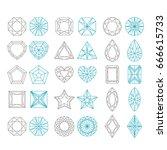 diamond shapes set. vector...   Shutterstock .eps vector #666615733