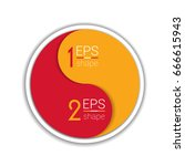two element circle infographic... | Shutterstock .eps vector #666615943