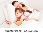 young mother and her five year... | Shutterstock . vector #66662086
