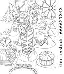 tower ride  tallest amusement...   Shutterstock .eps vector #666621343