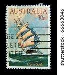australia   circa 1984 a stamp... | Shutterstock . vector #66663046