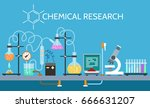 science chemical laboratory... | Shutterstock .eps vector #666631207