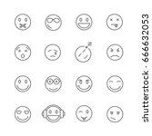set of emoticons related vector ... | Shutterstock .eps vector #666632053