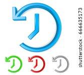 set of 3d shiny backup symbols... | Shutterstock .eps vector #666635173