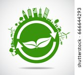 ecology concept. save world | Shutterstock .eps vector #666644293