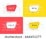 set of trendy flat vector... | Shutterstock .eps vector #666651277