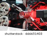automatic machine for coiling... | Shutterstock . vector #666651403