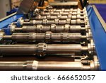 rollers in row a view on... | Shutterstock . vector #666652057