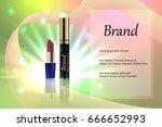 design cosmetics lipstick with... | Shutterstock .eps vector #666652993