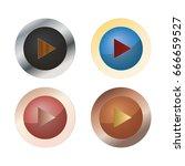 play button | Shutterstock .eps vector #666659527