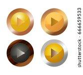 play button | Shutterstock .eps vector #666659533