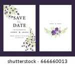 wedding invitation card... | Shutterstock .eps vector #666660013
