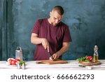 closeup hand of chef baker... | Shutterstock . vector #666662293