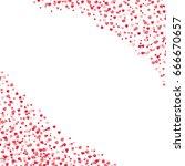 red hearts confetti  cornered...   Shutterstock .eps vector #666670657