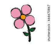 flower nature garden botanic... | Shutterstock .eps vector #666670867