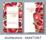 vector vertical banners with... | Shutterstock .eps vector #666671467