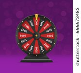 black wheel of fortune. casino... | Shutterstock .eps vector #666673483