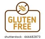 gluten free label vector....