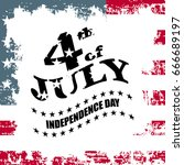 greeting card for independence... | Shutterstock .eps vector #666689197