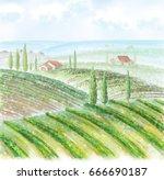 illustration of countryside...   Shutterstock . vector #666690187
