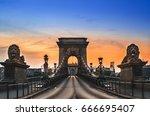 Chain Bridge In Budapest On...
