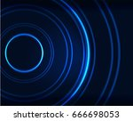 neon blue circles vector... | Shutterstock .eps vector #666698053