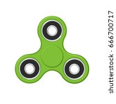 fidget finger spinner. vector... | Shutterstock .eps vector #666700717