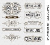 old vintage floral elements  ... | Shutterstock .eps vector #666703987