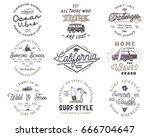vintage surfing graphics and... | Shutterstock .eps vector #666704647