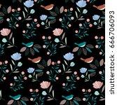 flower pattern | Shutterstock .eps vector #666706093