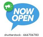 now open badge  banner vector.... | Shutterstock .eps vector #666706783