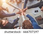 success and winning concept  ... | Shutterstock . vector #666707197