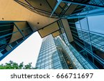 view from the bottom at high... | Shutterstock . vector #666711697