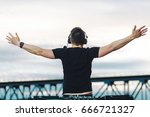freedom  happiness and music | Shutterstock . vector #666721327
