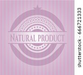 natural product retro style... | Shutterstock .eps vector #666721333
