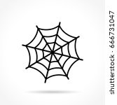 illustration of spider web icon ... | Shutterstock .eps vector #666731047