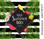 summer sale abstract background ... | Shutterstock .eps vector #666739177