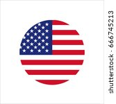 usa flag | Shutterstock .eps vector #666745213