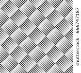 vector seamless black and white ... | Shutterstock .eps vector #666747187