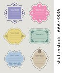 set of retro vector labels | Shutterstock .eps vector #66674836