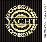 yacht golden emblem | Shutterstock .eps vector #666757207