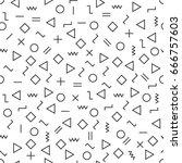 vector modern abstract geometry ... | Shutterstock .eps vector #666757603