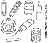vector set of glue | Shutterstock .eps vector #666762523