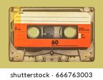 retro styled image of an old... | Shutterstock . vector #666763003