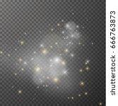 blurred lights bokeh overlay... | Shutterstock .eps vector #666763873
