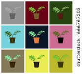 assembly flat icons ficus | Shutterstock .eps vector #666767203