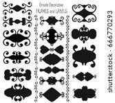 vector hand drawn decorative... | Shutterstock .eps vector #666770293