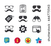 mustache and glasses icons....