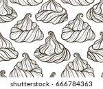 french meringue cookies... | Shutterstock .eps vector #666784363